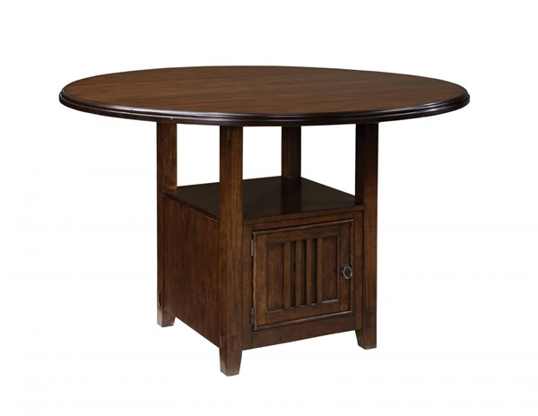 Sonoma Rustic Misson Mellow Oak Wood Counter Height Round Table STD-11906