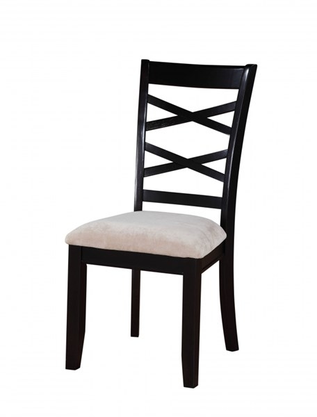 2 Epiphany Transitional Cherry Wood Fabric Side Chairs STD-12544