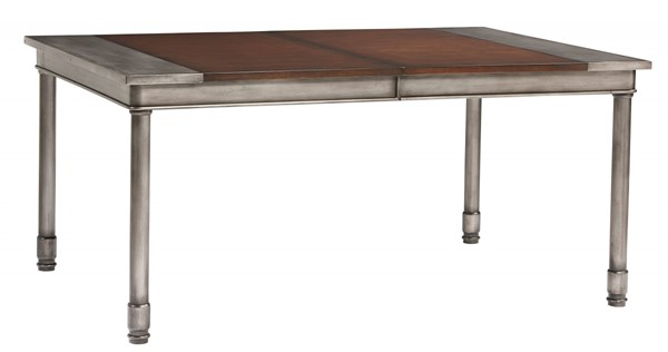 Hudson Contemporary Cherry Brown Wood Metal 18 Inch Leaf Dining Table STD-13221