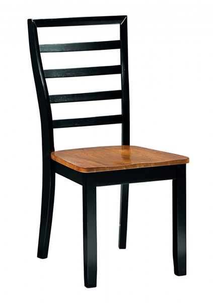 2 Lexford Casual Cherry Black Wood Side Chairs STD-14924