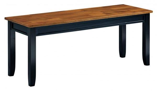 Lexford Casual Cherry Black Wood Kitchen Bench STD-14939