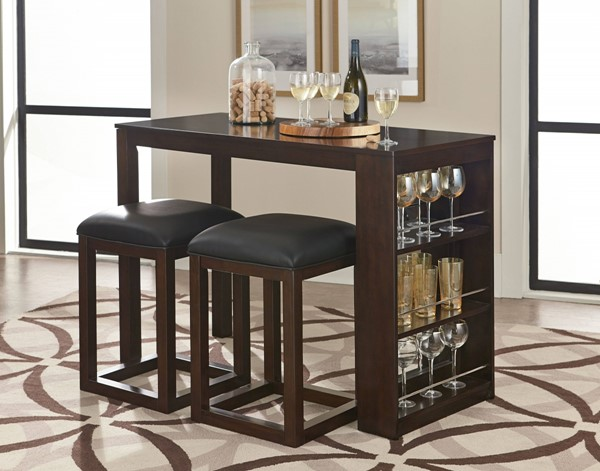 Porter Casual Dark Brown Wood Dining Room Set std-15140-DR
