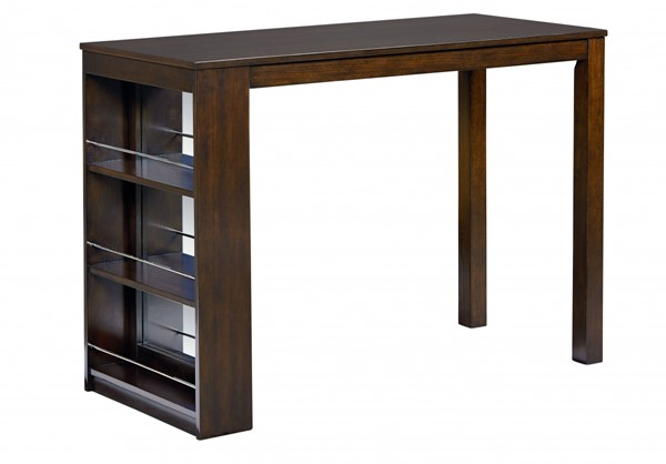 Porter Casual Dark Brown Wood Counter Height Table STD-15156