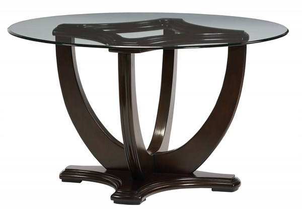 Mulholland Boulevard Transitional Wood 54 Inch Glass Top Dining Table std-15160-DT