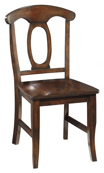 2 Larkin Country Cherry Brown Wood Side Chairs STD-15244