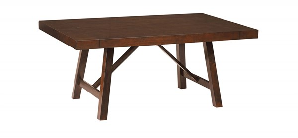 Standard Furniture Omaha Saddle Brown Extension Leaf Trestle Table STD-16181