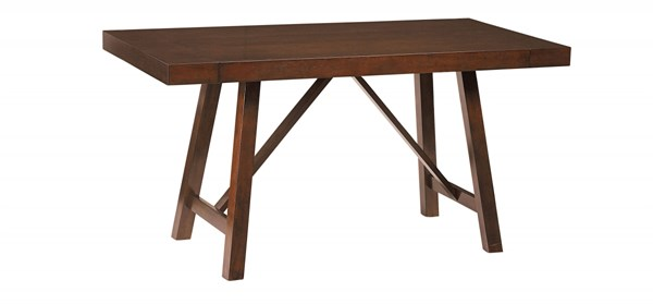 Omaha Transitional Saddle Brown Veneer Solid Counter Height Table STD-16196