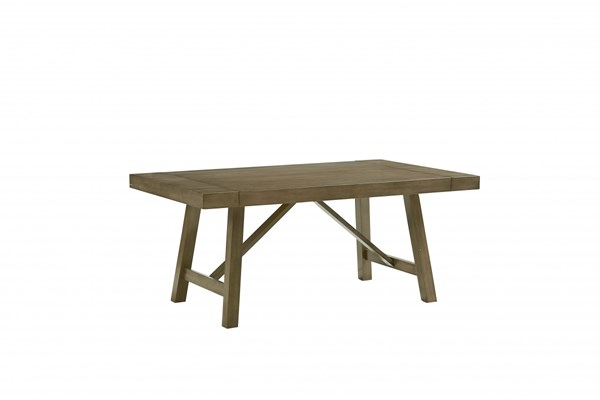 Omaha Transitional Grey Veneer Solid Extension Leaf Dining Table STD-16681