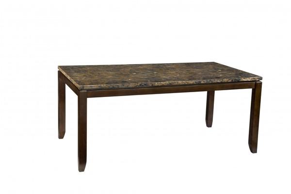 Bella Contemporary Chocolate Cherry Wood Marbella Top Table STD-16841