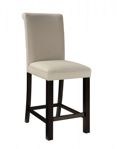 2 Gateway Brown White Wood Fabric Upholstery Parsons Barstools std-174-182-PBS-VAR