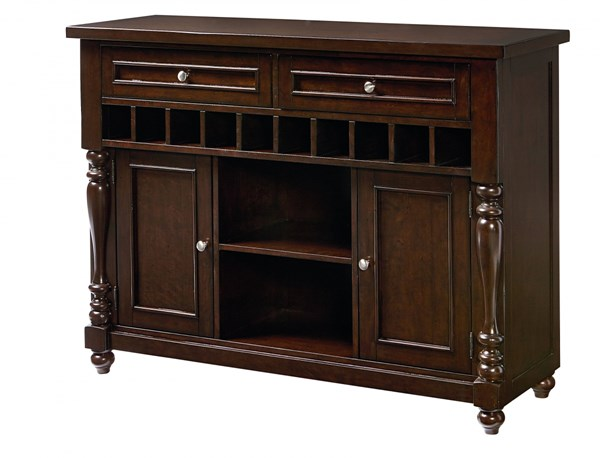 Mcgregor Casual Brown Wood 2 Drawers Sideboard STD-17722