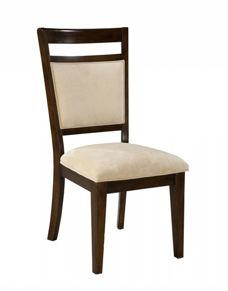 2 Avion Transitional Cherry Wood Fabric Upholstery Side Chairs STD-17824