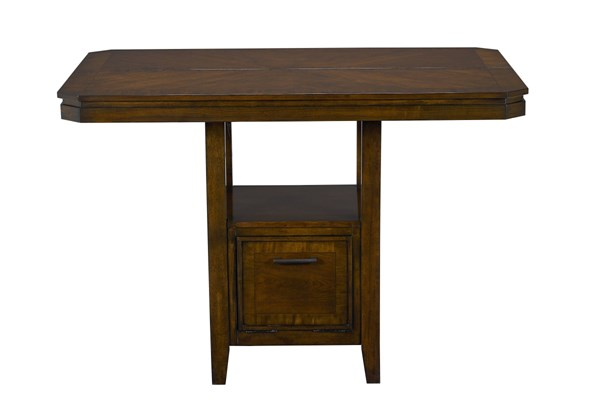Avion Transitional Cherry Wood Counter Height Table STD-17836