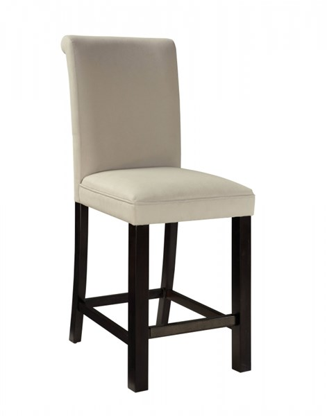 2 Gateway Grey Brown Wood Fabric Upholstery Parsons Barstools STD-18277