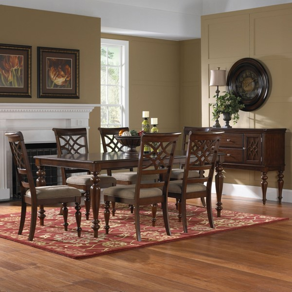 Woodmont Traditional Cherry Wood 7pc Dining Room Set std-191-DR-S1