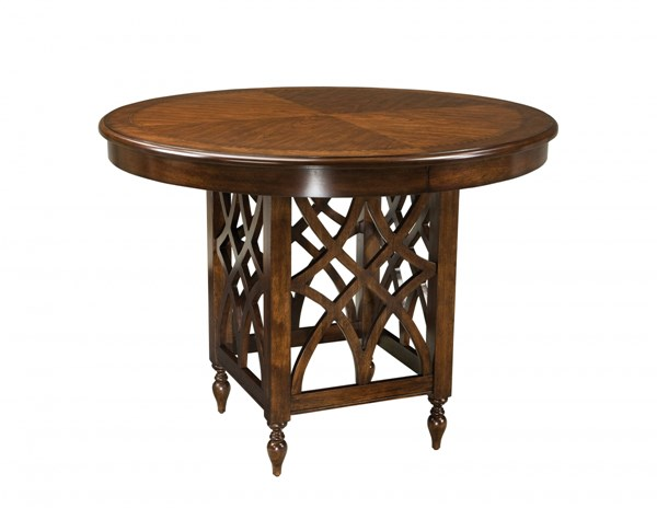 Woodmont Traditional Cherry Wood Counter Height Round Table STD-19196