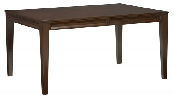 Vineyard Transitional Merlot Wood 18 Inch Leaf Dining Table STD-19201