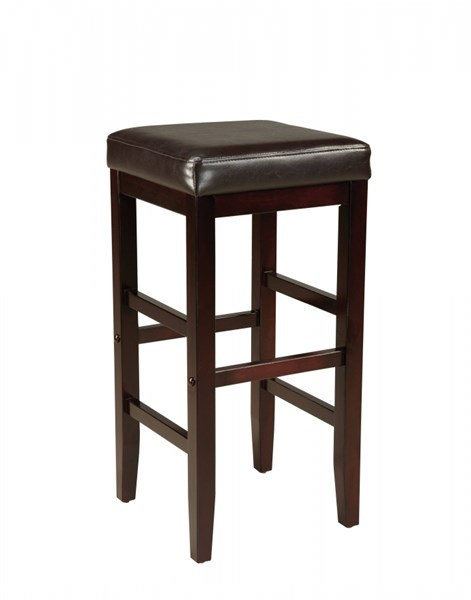 Smart Casual Brown Wood PVC 29 Inch Square Stool STD-19602