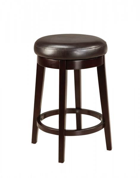 Smart Casual Brown Wood PVC 24 Inch Round Stool STD-19603