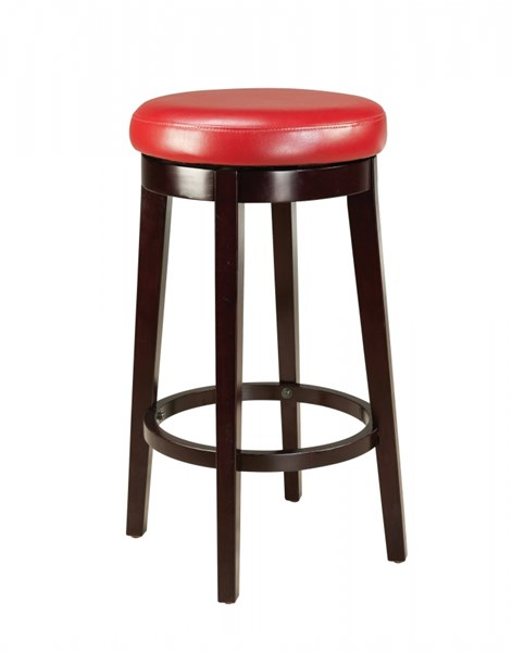 Smart Casual Red Wood PVC 29 Inch Round Stool STD-19614