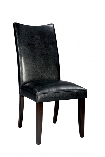 2 La Jolla Transitional Black PU Parsons Chairs STD-19975