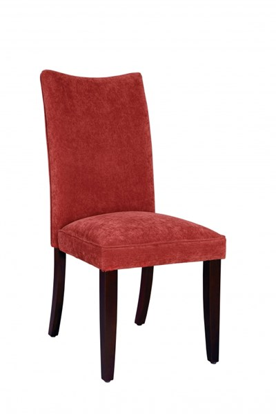 2 La Jolla Transitional Red Fabric Parsons Chairs STD-19984