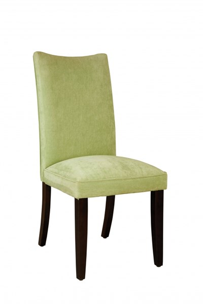 2 La Jolla Transitional Green Fabric Parsons Chairs STD-19986