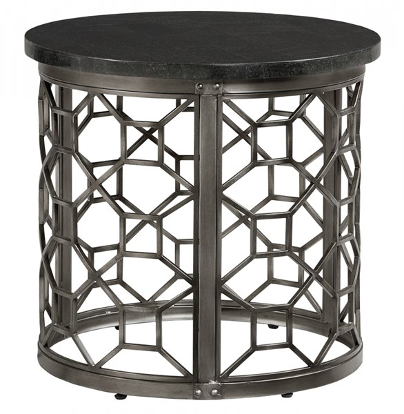 Equinox Pewter Metal Round End Table Base STD-28922