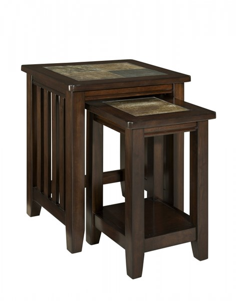 Napa Valley Casual Gray Warm Gold Wood Nesting Table STD-20654