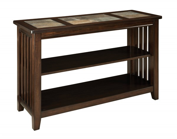 Napa Valley Casual Gray Warm Gold Wood Console STD-20656