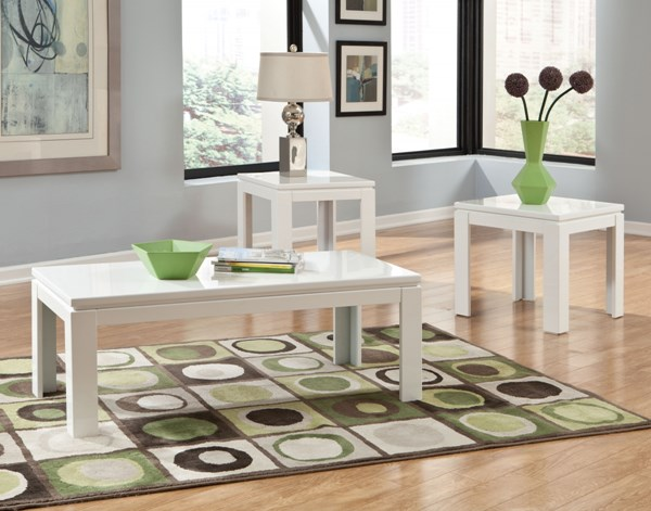 Outlook Contemporary White Wood 3 In 1 Pack STD-22133