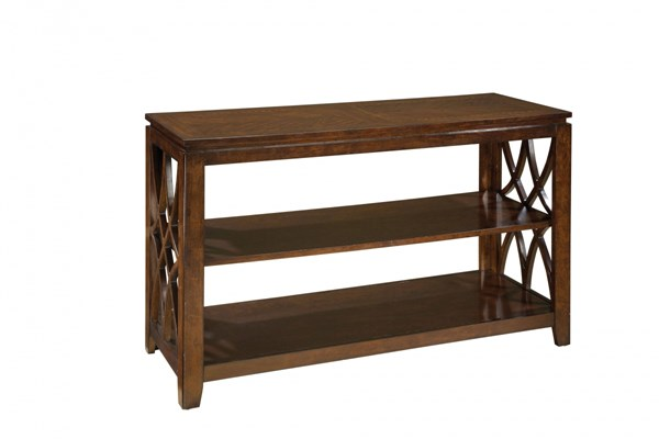Woodmont Traditional Brown Cherry Wood Sofa Table STD-23447