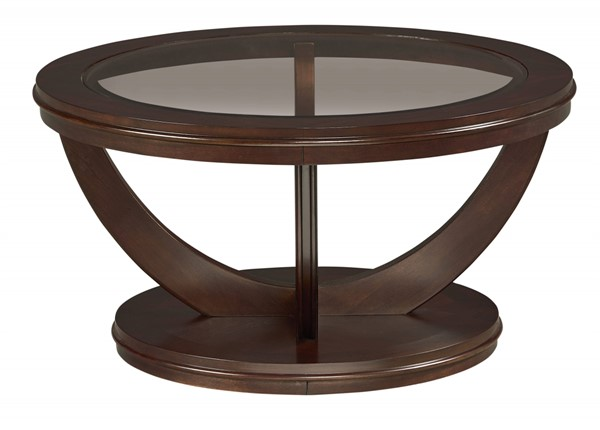 Standard Furniture La Jolla Dark Merlot Round Cocktail Table STD-23761