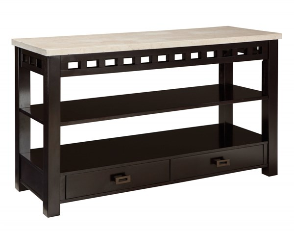 Gateway Contemporary White Grey Wood Metal Console Tables std-268-ST-VAR