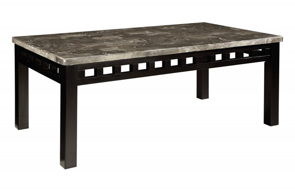 Gateway Contemporary Grey Wood Metal Cocktail Table STD-26821