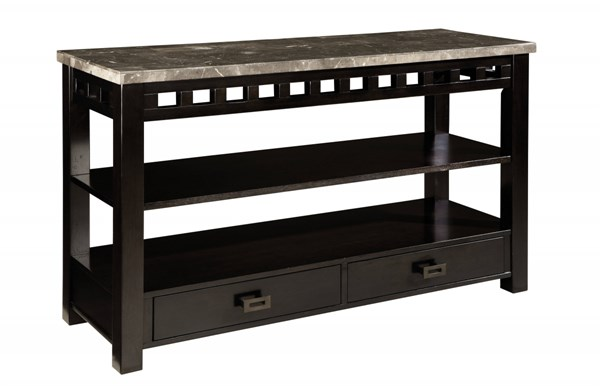 Gateway Contemporary Grey Wood Metal Console Table STD-26826