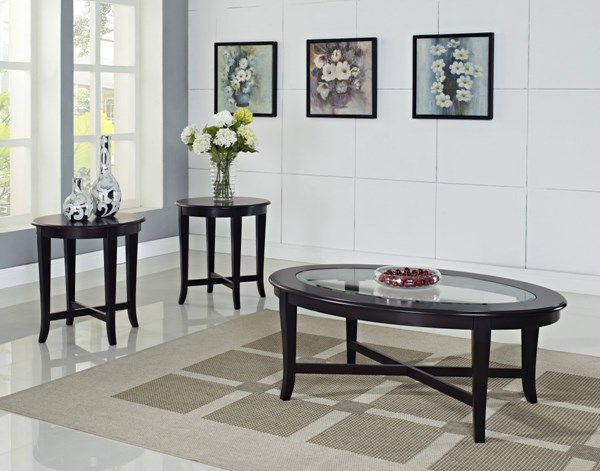 Sommerset Transitional Black Wood Glass 3 In 1 Pack STD-27033