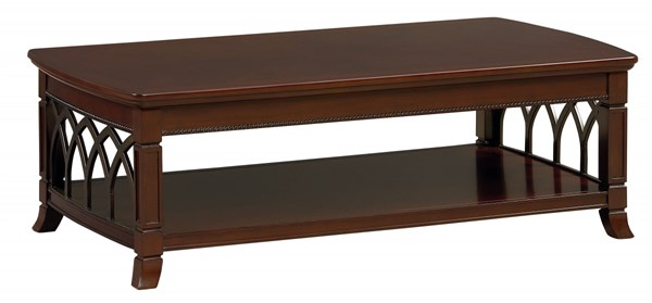 Abbey Traditional Cherry Wood Cocktail Table STD-27111