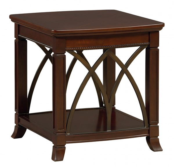 Abbey Traditional Cherry Wood Square End Table STD-27112