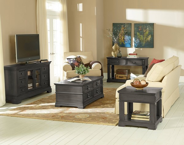 Garrison Traditional Grey Wood Coffee Table Set std-28401-OCT