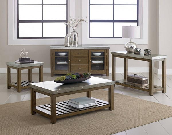 Riverton Wood Metal 3pc Coffee Table Set std-2858-OCT-S1