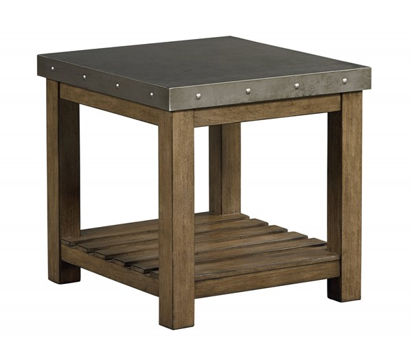 Riverton Wood Metal Square Storage End Table STD-28582