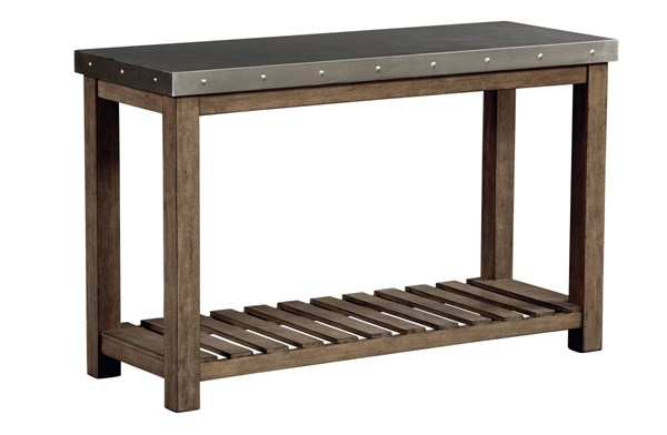 Riverton Wood Metal Rectangle Console Table STD-28586