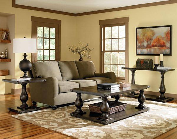 Pierwood Traditional Brown Wood 3pc Coffee Table Set std-2925-OCT-S1