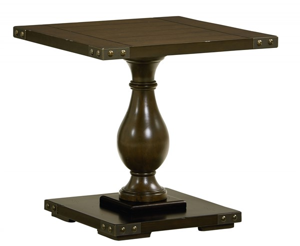 Standard Furniture Pierwood Brown Square End Table STD-29252