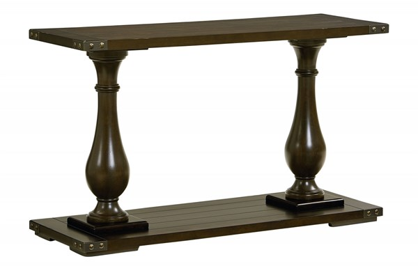 Pierwood Traditional Brown Wood Console Table STD-29256