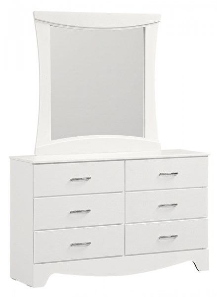 Vogue Modern White Wood 6 Drawers Dresser STD-50709