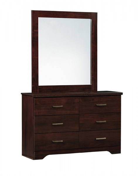 Glenshire Transitional Brown Cherry Wood 6 Drawers Dresser STD-52609