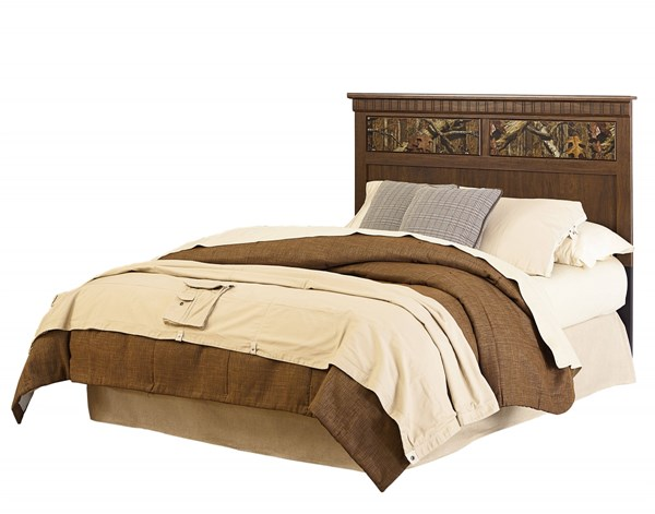 Solitude Transitional Brown Cherry Wood Queen Headboard STD-52952
