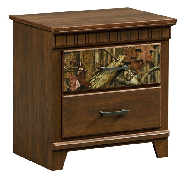 Solitude Transitional Brown Cherry Wood Nightstand STD-52957